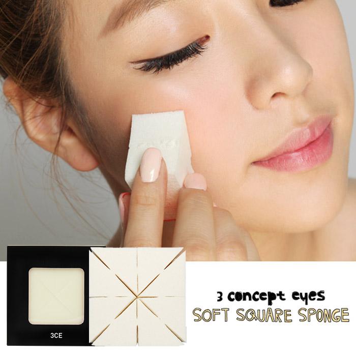 韓國 3CE (3CONCEPT EYES) 蜜糖吐司海綿 8入裝【RKST132C】