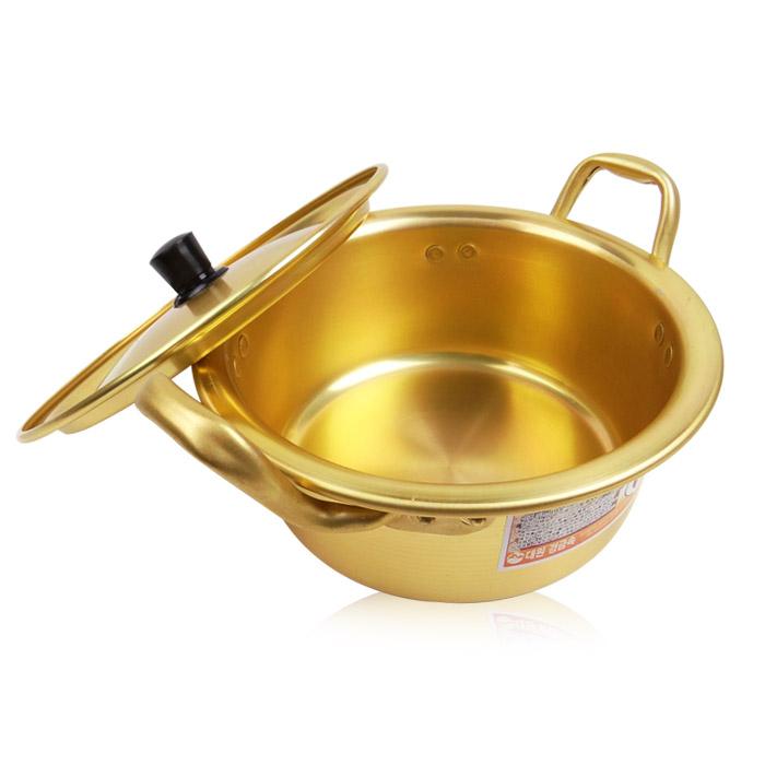 韓國 單人份泡麵鍋(附鍋蓋) 16cm 乙入【ROKE436C】