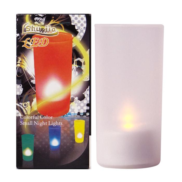 韓版 浪漫風情蠟燭燈/小夜燈 仿真吹氣即可開關燈 乙入 隨機出貨不挑款/色【RSOTB95M】