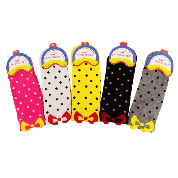 水玉點點彩色蝴蝶結造型襪 乙雙入 隨機出貨不挑款/色【RSOTI76P】