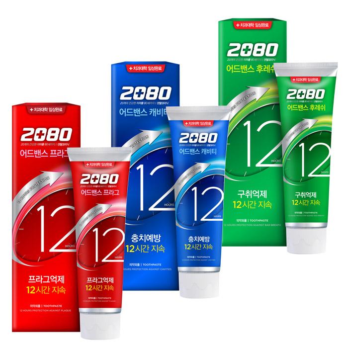 韓國 2080 愛敬 12小時長效防護牙膏 120g (3款可選)【RATH022C】