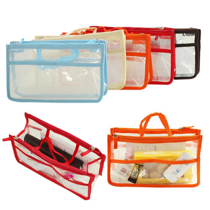 防水透明雙拉鍊手提收納整理包/化妝包 乙入 隨機出貨不挑款/色【RSOTI79P】