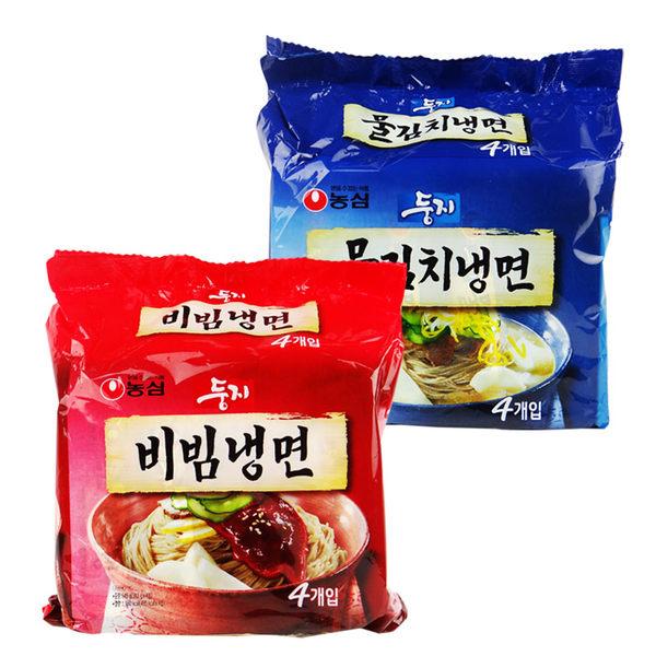 韓國 農心 韓式水冷麵/辣拌冷麵 4包 乙袋入 進口/團購/泡麵/沖泡【REJE326C】
