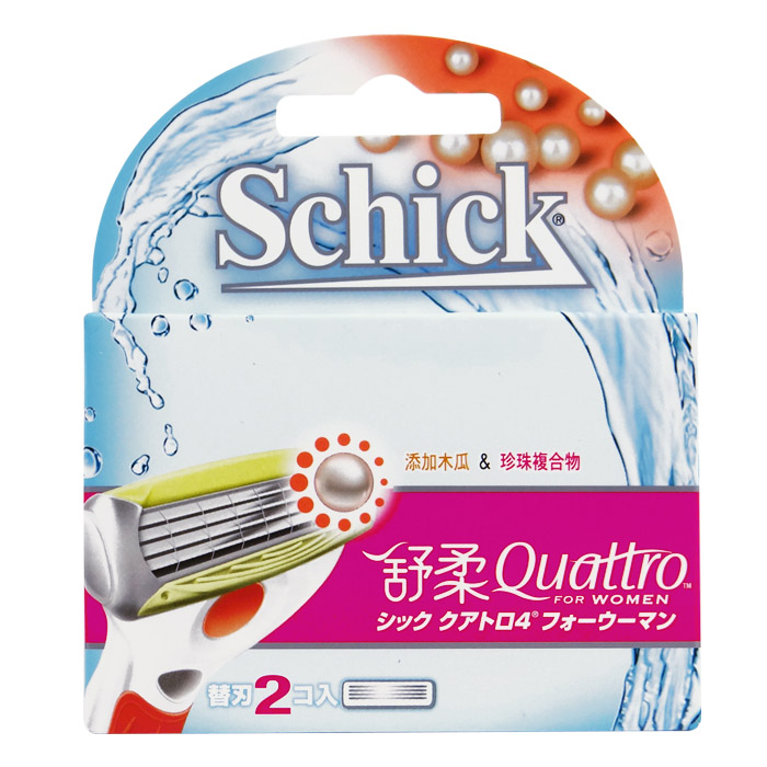 Schick 舒適牌 舒柔除毛刀 美型款替換刀芯 2片入【RASC004C】