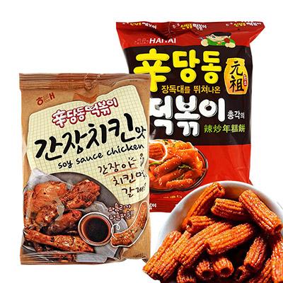 韓國 HAITAI 海太 辣炒年糕餅乾 乙包入 進口/團購/零食/餅乾 【REJE154C/REJE875C】