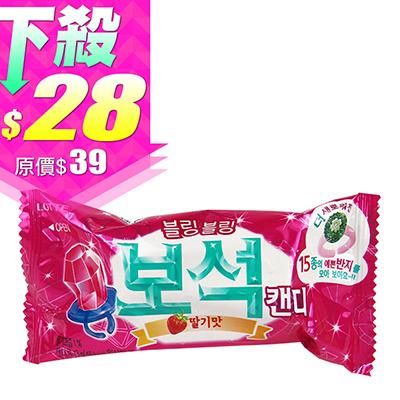 韓國 LOTTE 樂天 寶石戒指糖(草莓) 13g 進口/團購/零食/糖果【REJE641C】