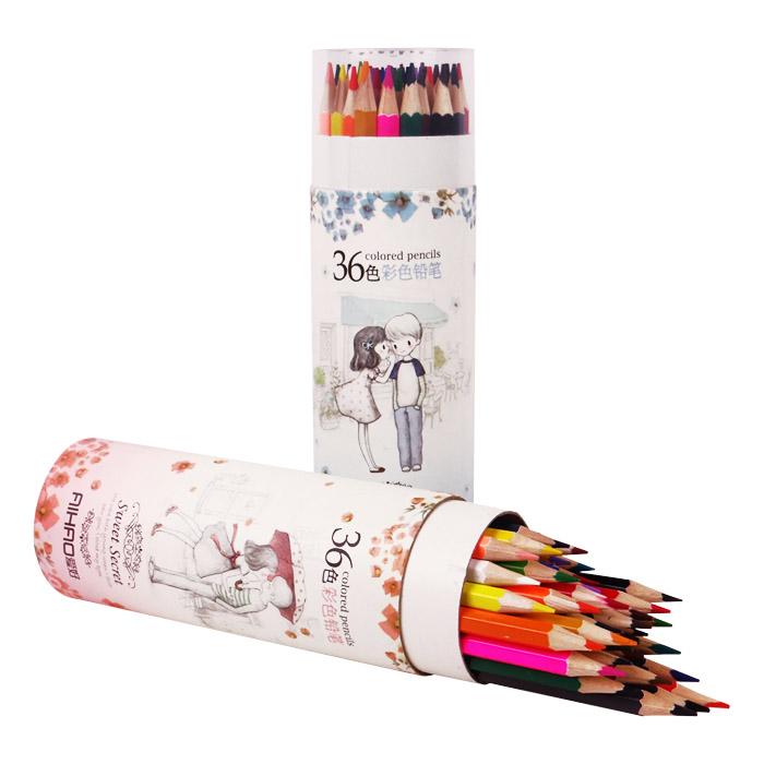 36色彩色鉛筆 乙筒入 隨機出貨不挑款/色【ROLI164C】