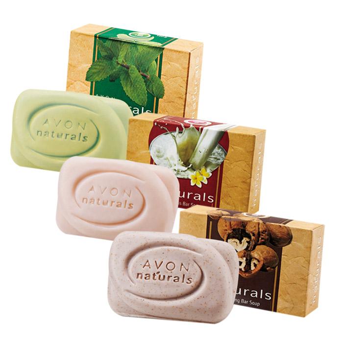 AVON 雅芳 印度草本皂 100g 薄荷清淨/番紅花淨白/胡桃去角質【RTAV015C】