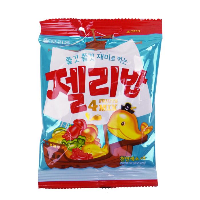 韓國 ORION 好麗友 海底世界造型軟糖(綜合水果) 58g 進口/團購/零食/糖果【REJE649C】