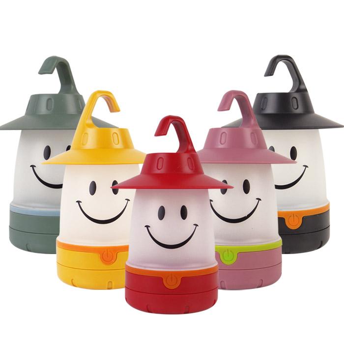 可勾式LED笑臉手提小夜燈/露營帳篷燈 乙入 隨機出貨不挑款/色【ROLI172C】