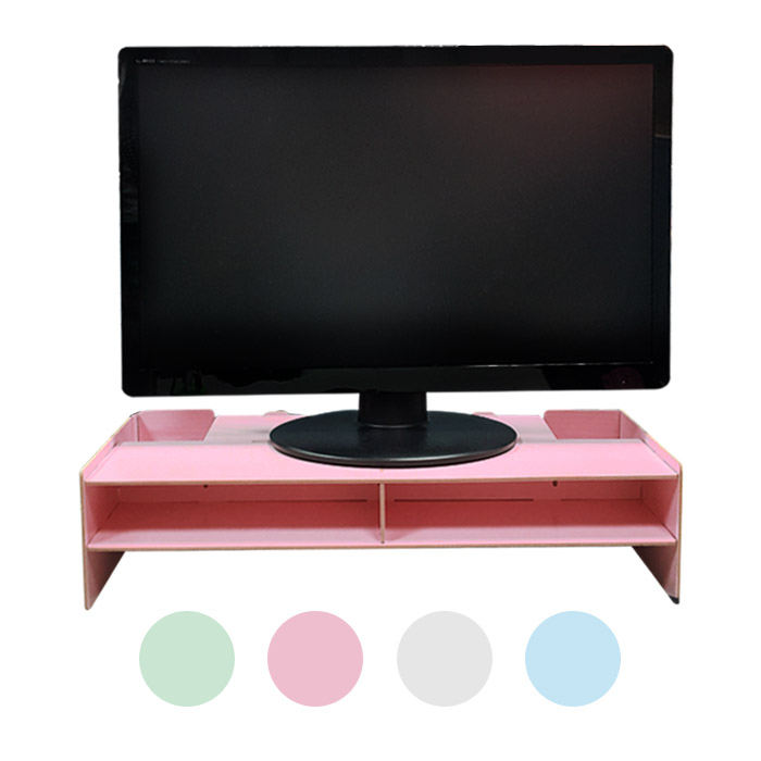 DIY木質電腦螢幕架/桌面收納架 乙入 隨機出貨不挑款/色(限宅配寄送)【ROLI170C】