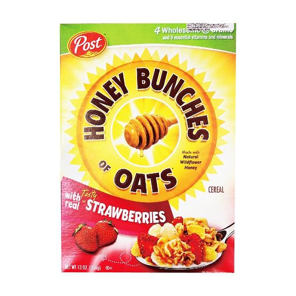[美國Post] 草莓蜂蜜穀物燕麥片 (368g/盒)