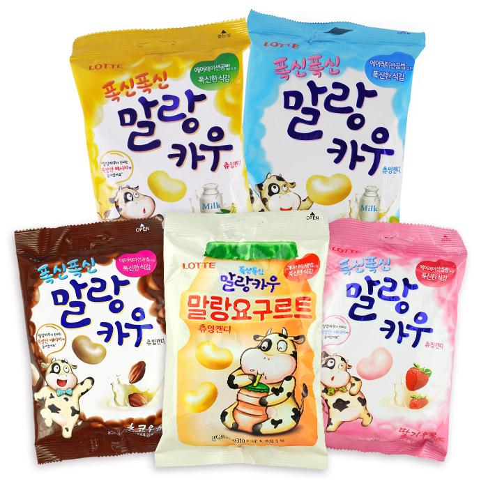 韓國 LOTTE 樂天 鮮奶棉花糖 63g 草莓/原味/香蕉/巧克力牛奶 進口/零食/糖果【REJE639C】