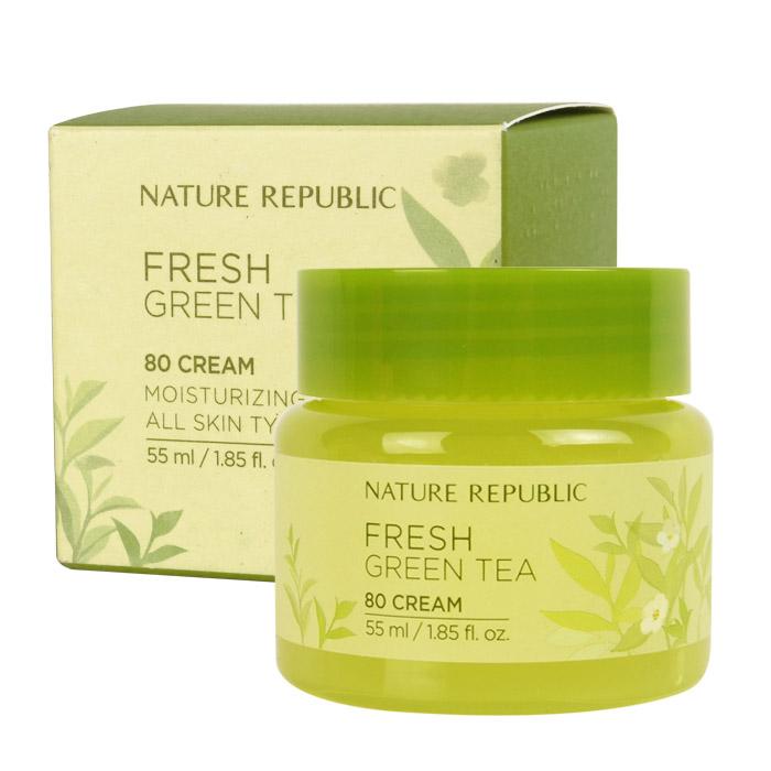 韓國 Nature Republic 綠茶清爽保濕霜 55mL【RKNR024C】