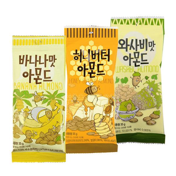 韓國 Tome Gilim 蜂蜜奶油/蜂蜜芥末/香蕉風味杏仁果 35g 進口/團購/零食/糖果【REJE679C】