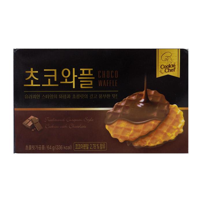 韓國 Cookie Chef 巧克力格子鬆餅 64g 進口/團購/零食/餅乾【REJE680C】