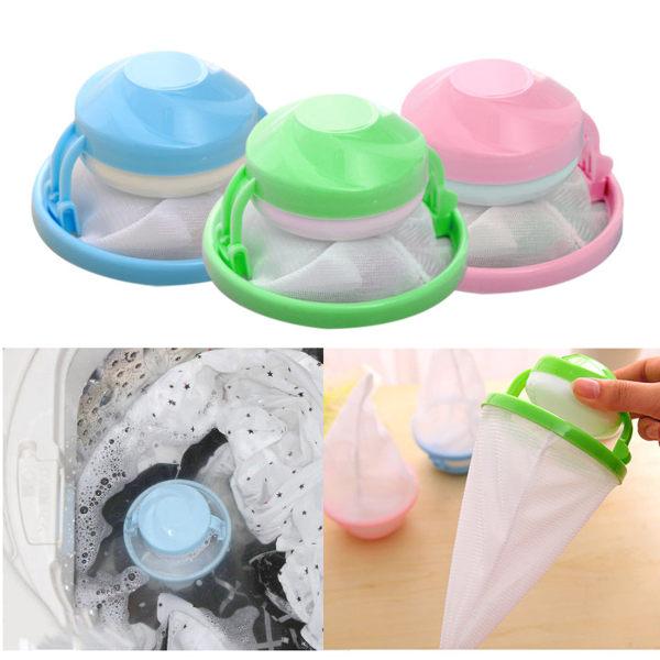 居家小物 洗衣機漂浮型棉絮收集袋 乙入 隨機出貨不挑款/色【ROLI241C】