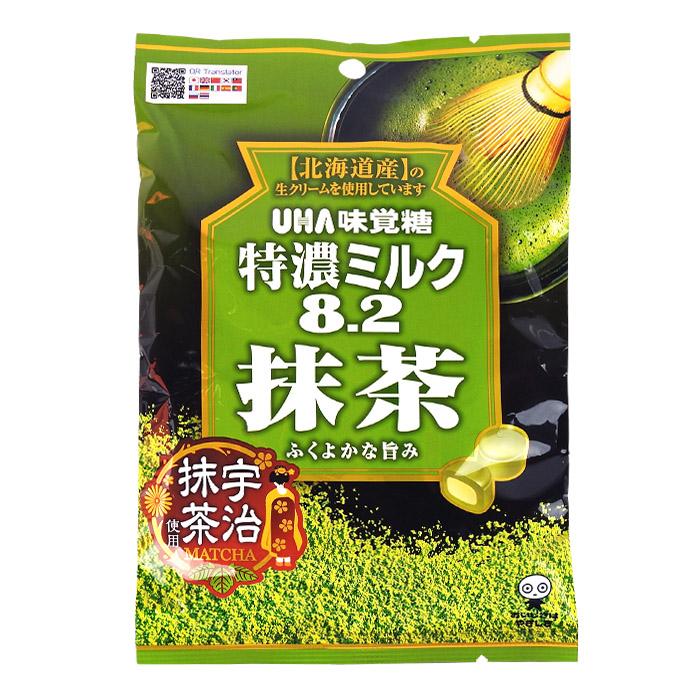 日本 UHA 味覺糖 8.2 特濃抹茶牛奶糖 乙包入 進口/團購/零食/糖果【REJE701C】