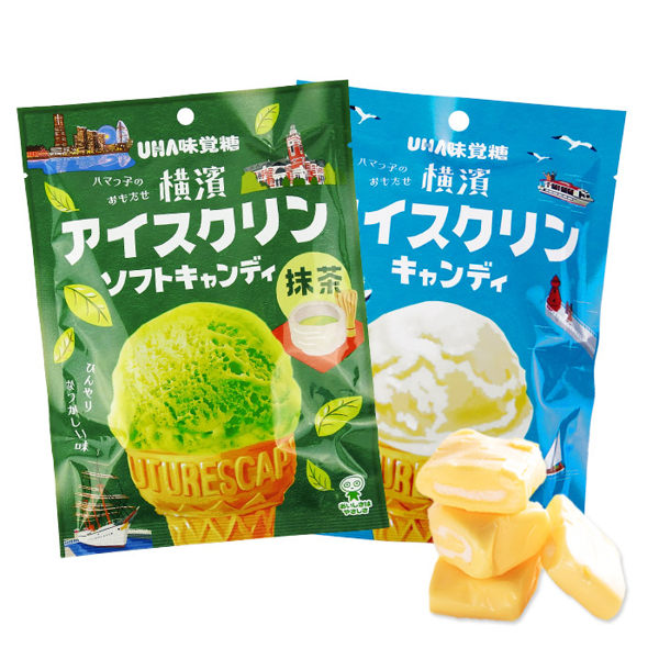 日本 UHA 味覺糖 橫濱冰淇淋/抹茶糖 乙包入 進口/團購/零食/餅乾【REJE704C】