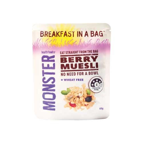 [澳洲 Monster Health Food] 綜合野莓穀物燕麥片 (60g/包)