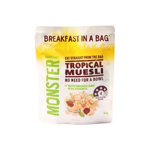 [澳洲 Monster Health Food] 熱帶水果穀物燕麥片 (60g/包)
