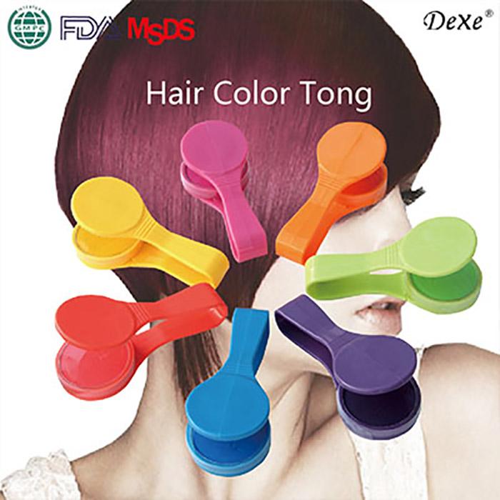 DeXe 繽紛染髮夾 乙入 黃/橘紅/橘/粉紅/綠/紫/藍【RHHA213C】