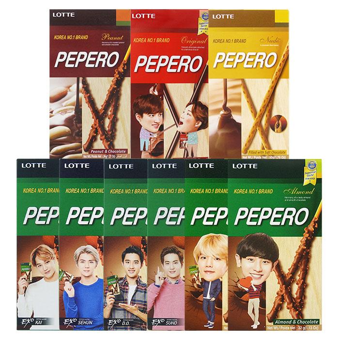 韓國 LOTTE 樂天 PEPERO 花生巧克力棒/巧克力夾心棒/杏仁巧克力棒 進口/團購/零食/餅乾【REJE711C】