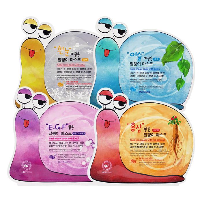 韓國 NEXTBEAU 蝸牛面膜 25mL 單片入 彈性營養/水嫩保濕/.滋潤亮采/緊實水潤【ROKE804C】