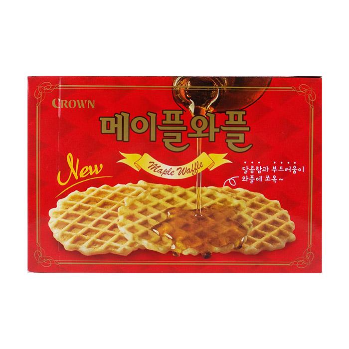 韓國CROWN楓糖鬆餅108g進口/團購/零食/餅乾【REJE734C】