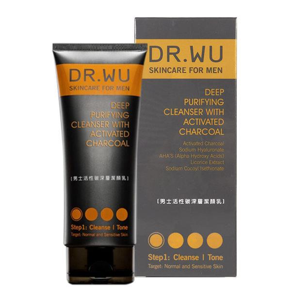 Dr.Wu達爾膚男士活性碳深層潔顏乳150mL【RTDW037C】