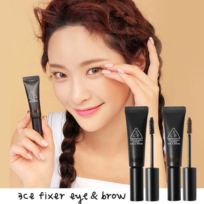韓國3CE(3CONCEPTEYES)睫毛膏&染眉膏7gBLACK/BROWN【RKST163C】