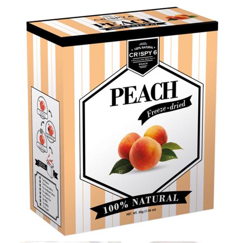 (售完)[Crispy6] 旅行者六號 英國皇室健康時尚果乾 – 水蜜桃 (30g/盒) (有效日期:2017/4/10)