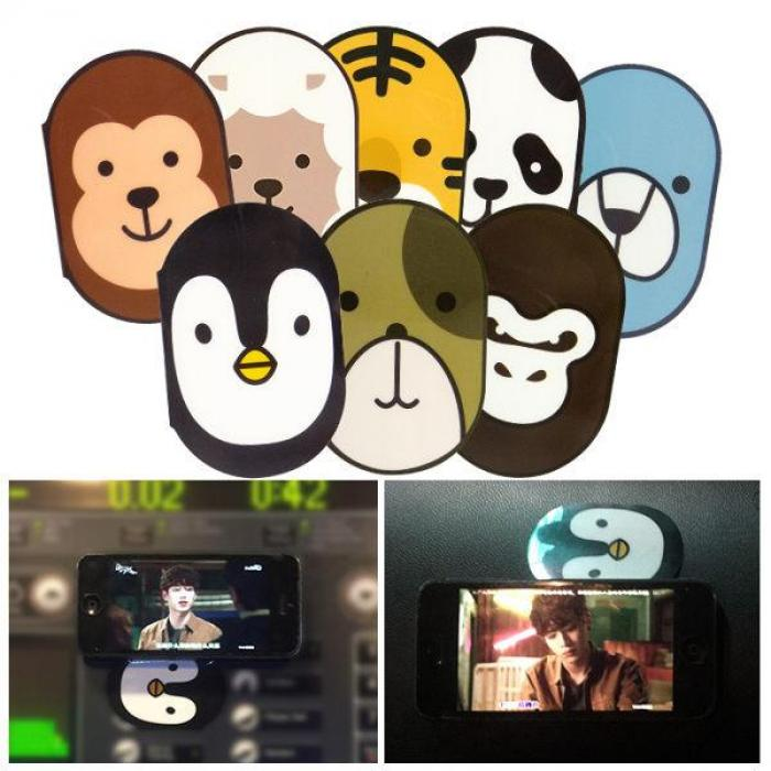 【任選3件228】韓國 多功能動物造型手機貼 乙入 多款可選【ROLI257C】車用固定貼
