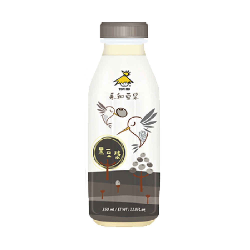 [永和豆漿]黑豆漿(350ml/瓶)