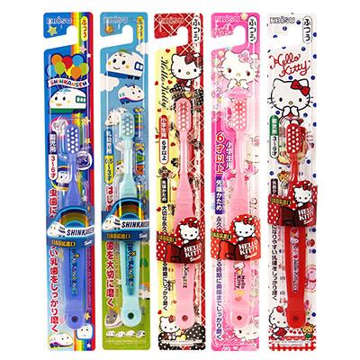 日本EBISU新幹線/HelloKitty兒童牙刷乙支入隨機出貨不挑款/色【ROLI254C】