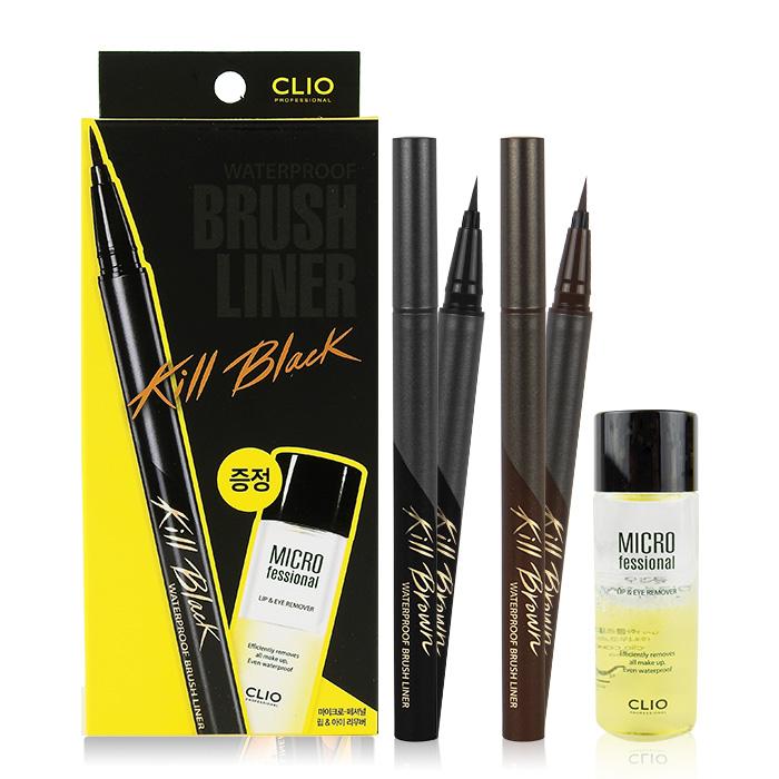 韓國 CLIO 魅黑防水柔順眼線液筆 0.55mL 棕/黑色【RKCL027C】限量加贈