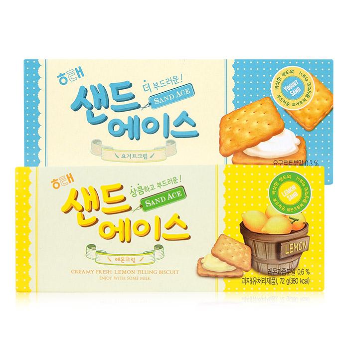 韓國HAITAI海太夾心餅乾68g/盒優格/檸檬【REJE784C】