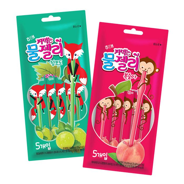 韓國 HAITAI 吸吸果凍條 20g╳5入/袋 青葡萄進口/團購/零食/糖果【REJE793C】
