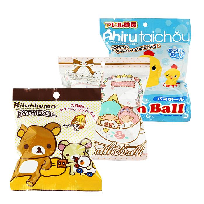 日本 沐浴球 單顆入 拉拉熊/雙星仙子/小鴨隊長/入浴劑/泡澡球【RJJE816C】