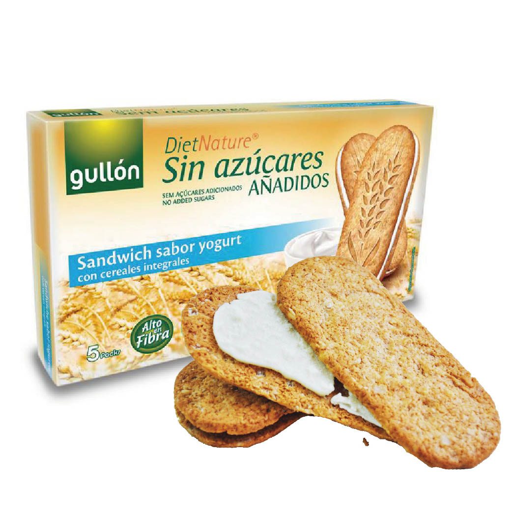 (售完)[西班牙穀優 gullon] 無加糖優格夾心早餐穀物餅 (2片*5包/盒)
