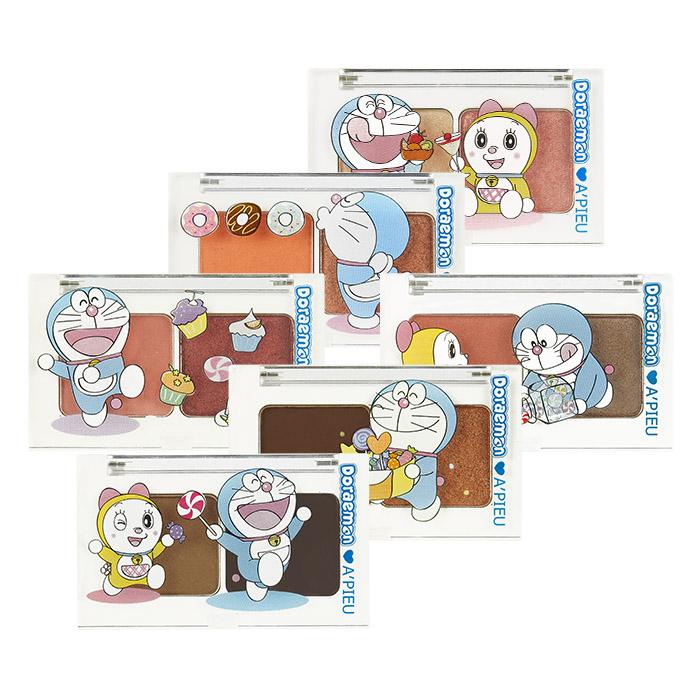 韓國 Apieu 哆啦A夢 雙色眼影盤 2.2g╳2 多色可選【RKAP065C】