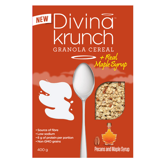 (售完)[加拿大Divina Krunch] 楓糖胡桃酥脆穀物(400g/盒)