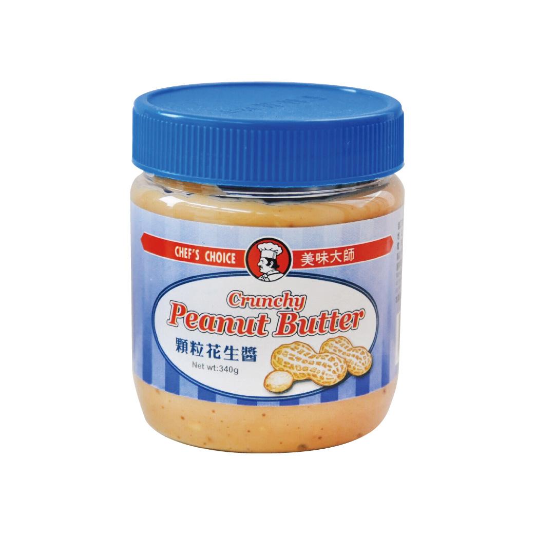 [美味大師]顆粒花生醬(340g/罐)