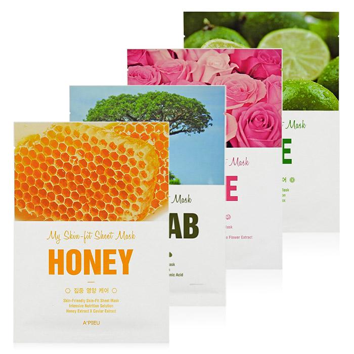 韓國 Apieu 我的面膜 25g 蜂蜜/萊姆/玫瑰/猴麵包果/多款可選【RKAP052C】