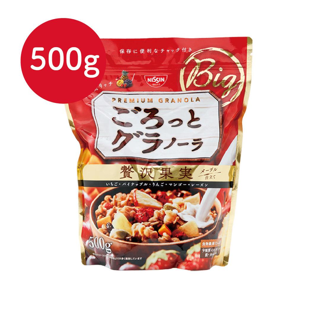 [日清Nissin]奢華楓糖水果麥片(500g/袋)(有效期限:2017.06初)