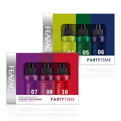 【單品免運】FEAZAC 舒科 胺基酸彩色修護染-派對玩色組40mlx3 龐克藍綠/搖滾紫紅/護髮染【RTFZ029C】