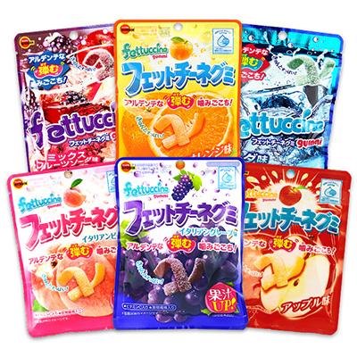日本 Bourbon 北日本 Fettuccine 長條軟糖 50g 葡萄/水蜜桃/可樂/柳橙【REJE169C】