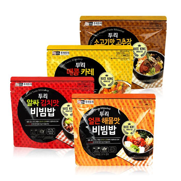 韓國 Doori Doori 石鍋拌飯 161.5g 韓式泡菜/咖哩/牛肉風味 【REJE829C】