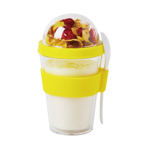 [加拿大 YO2GO] 雙層麥片隨行杯-亮眼黃 (360ml)