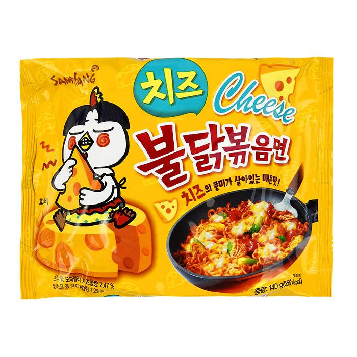 韓國 SAMYANG 火辣雞肉風味鐵板炒麵/乾燒拉麵 140g 起司味/泡麵/三養【REJE820C】